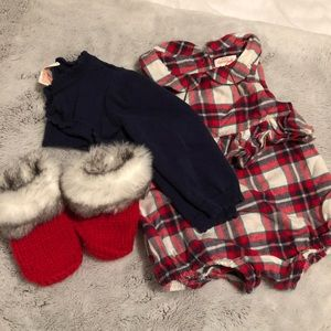 Baby Girls Winter Holiday Outfit